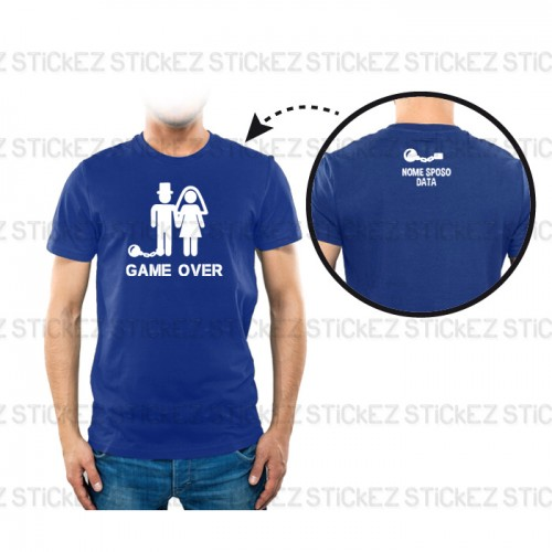 T-shirt Addio al Celibato - Game Over