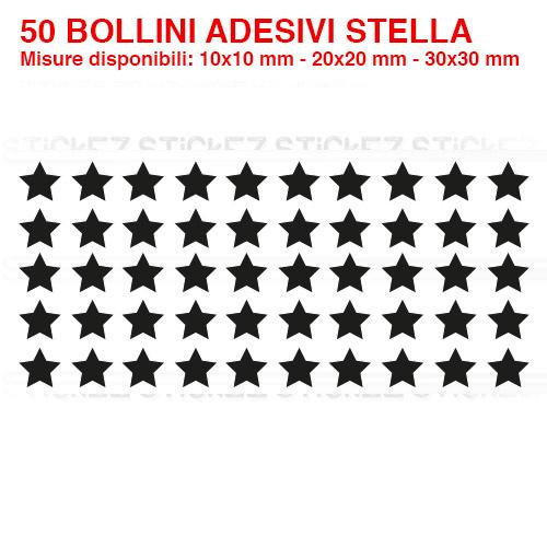 Bollini adesivi stella