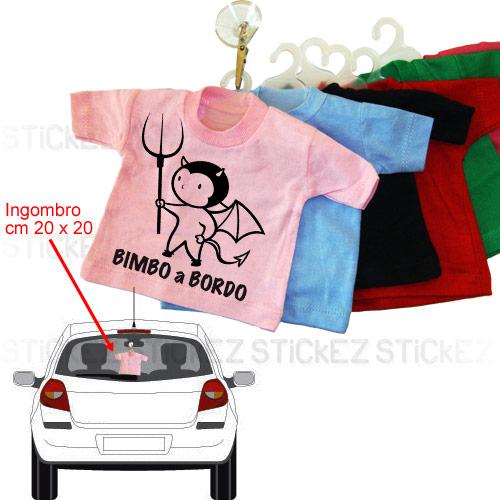 T-shirt Bimbo a Bordo - Diavoletto